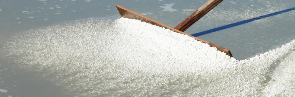Le las pour récolter le gros sel de l'Île de Ré